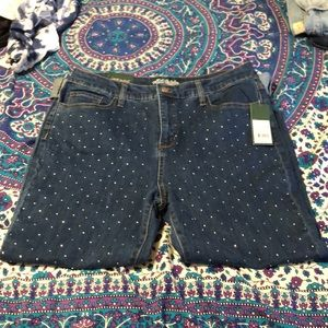 mom jeans with jewels NWT